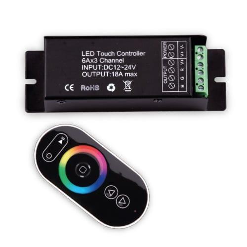 RF Touch контролер за RGB LED осветление 216W, 12-24V DC, 18A