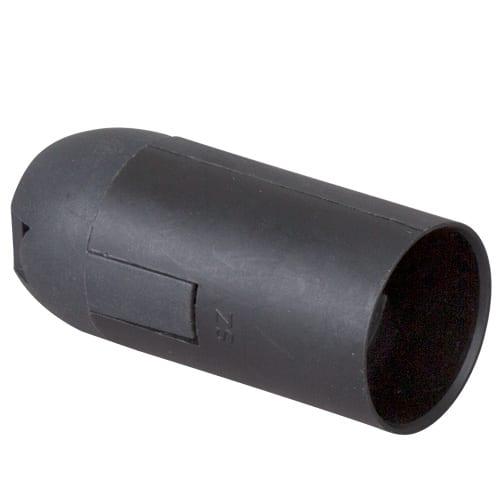 Пластмасова фасунга Гладка, Черна, E14, 1 бр.