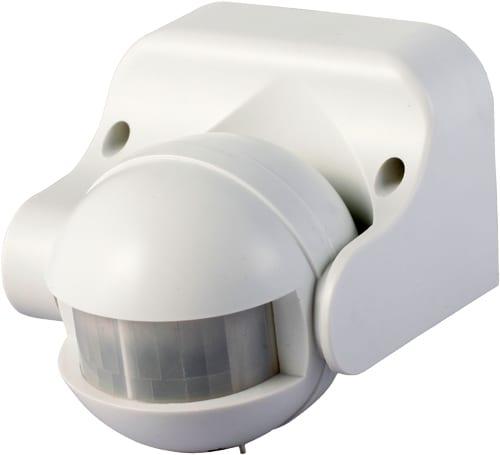 Сензор за движение за външен монтаж, Бял, 180°, 12м, IP44, 220V-240V AC, 1200W
