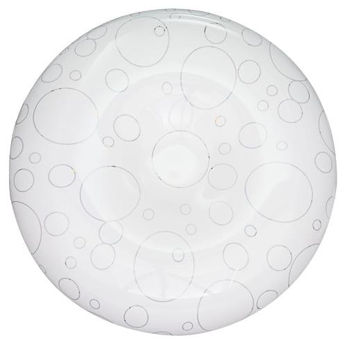 LED декоративна плафониера 12W, Кръг, Бяла, 2700K, Топла светлина, SMD 3020, 220V-240V AC