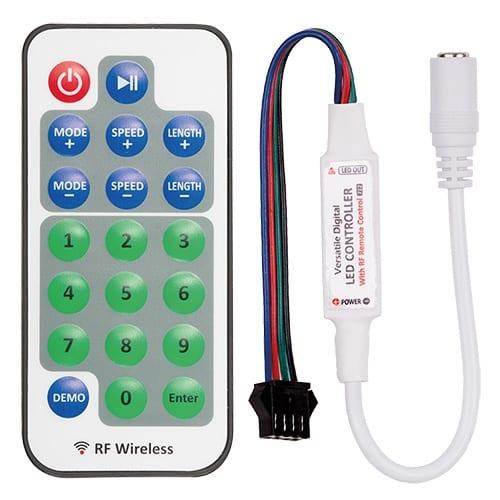 RF мини контролер за дигитална LED лента 5-24V DC, 800 пиксела