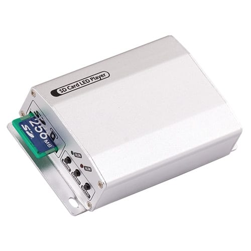 Контролер за дигитални LED модули и ленти, SD-карта, 1 порт, 5-24V DC, 2048 pixels