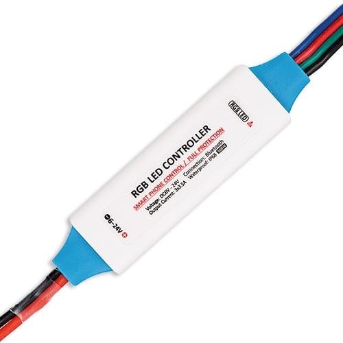 Професионален Bluetooth контролер за RGB LED осветление 126W (12V), 6-24V DC