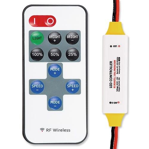 Професионален RF контролер за едноцветно LED осветление 120W (12V),5-24V DC