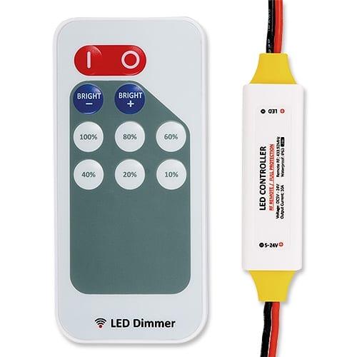 Професионален RF димер за едноцветно LED осветление 120W (12V), 5-24V DC