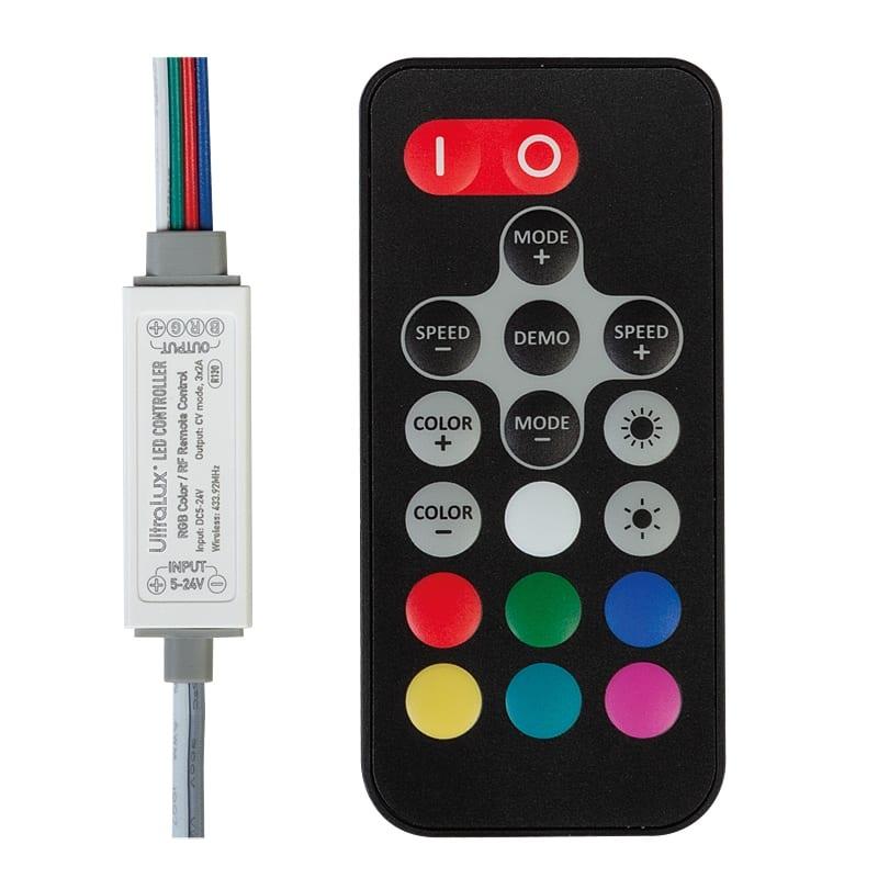 RF Мини контролер за RGB LED осветление 72W (12V), 5-24V DC