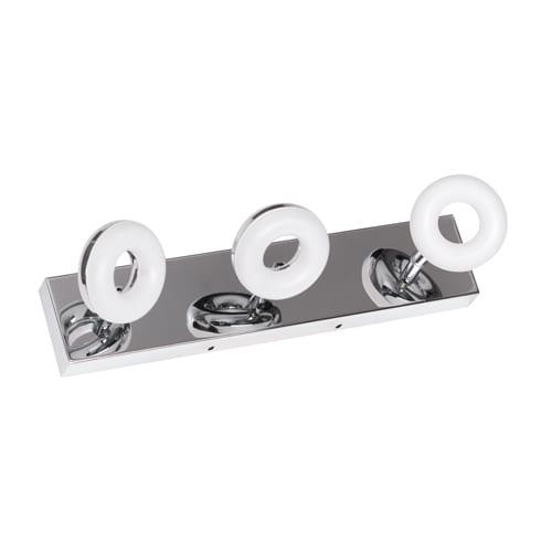 LED осв. тяло за баня 3x5W, 2700K, Хром, Топла светлина, Влагозащитено IP44