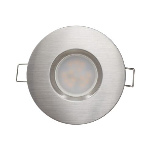 LED луна за вграждане 6.5W, 2700K, IP44, 220V-240V AC, 120°, Топла светлина, Сатиниран никел, SMD 2835