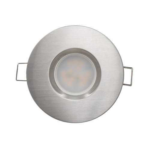 LED луна за вграждане 6.5W, 4200K, IP44, 220V-240V AC, 120°, Неутрална светлина, Сатиниран никел, SMD 2835