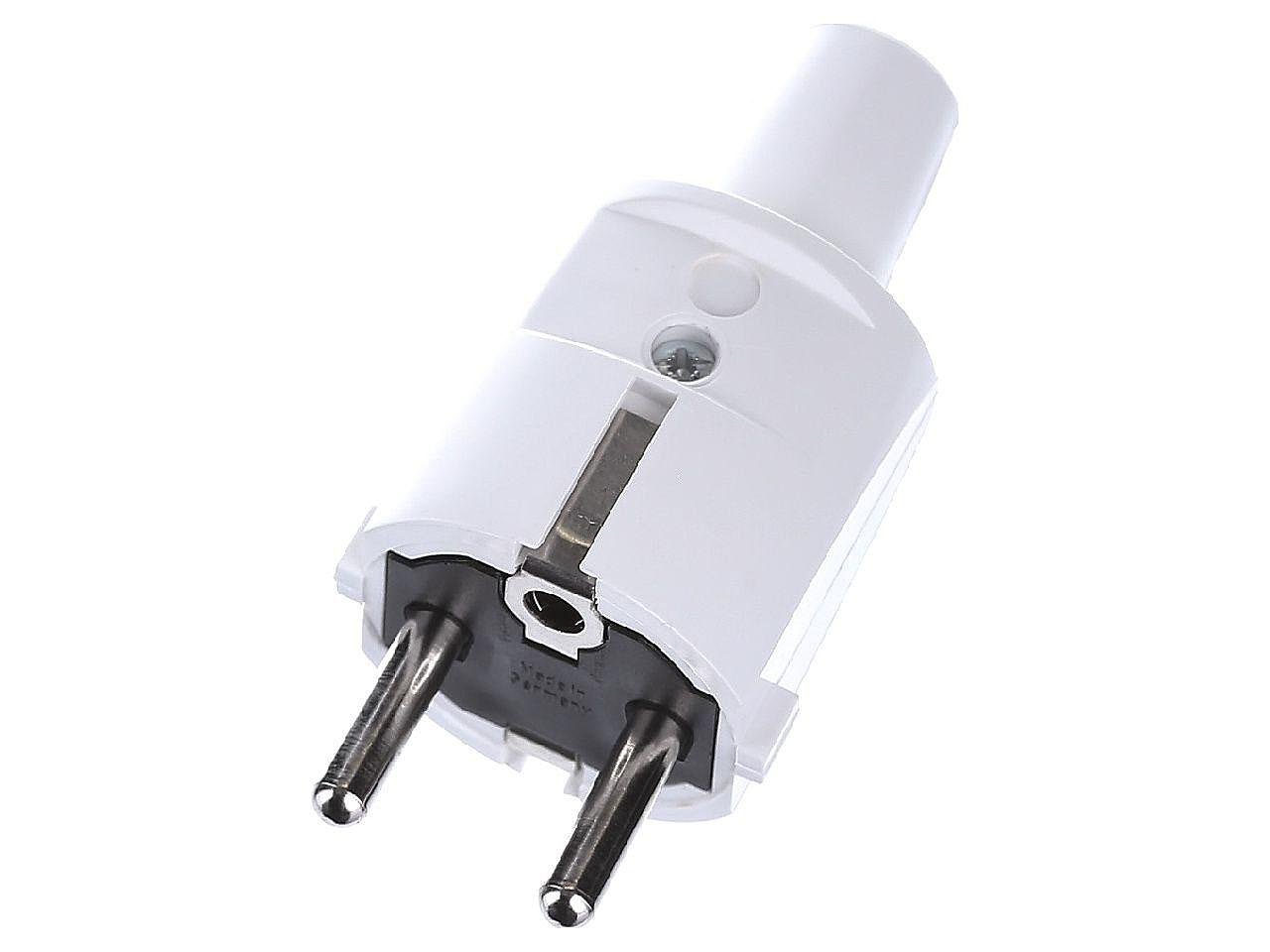 Щепсел ABL PVC Mini, 16A, 250V, 3P, Бял