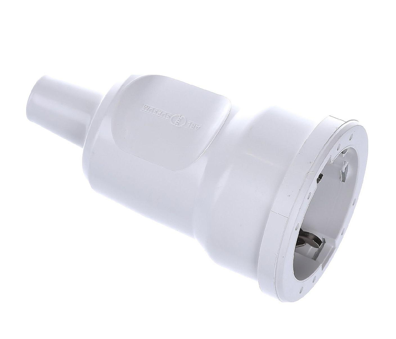 Куплунг ABL PVC Mini, 16A, 250V, 3P, Бял