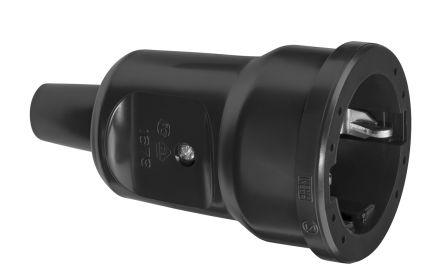 Куплунг ABL PVC Mini, 16A, 250V, 3P, Черен