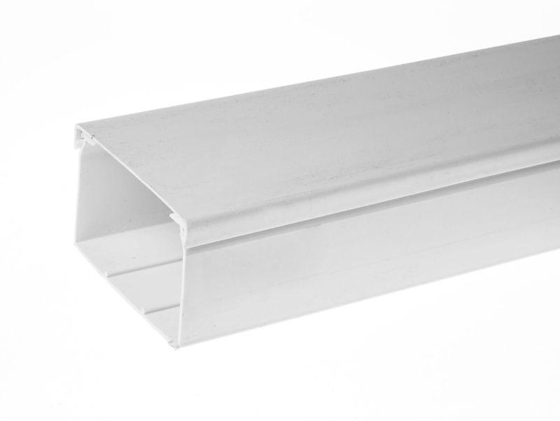 Кабелен канал 100x60, Бял, 2м