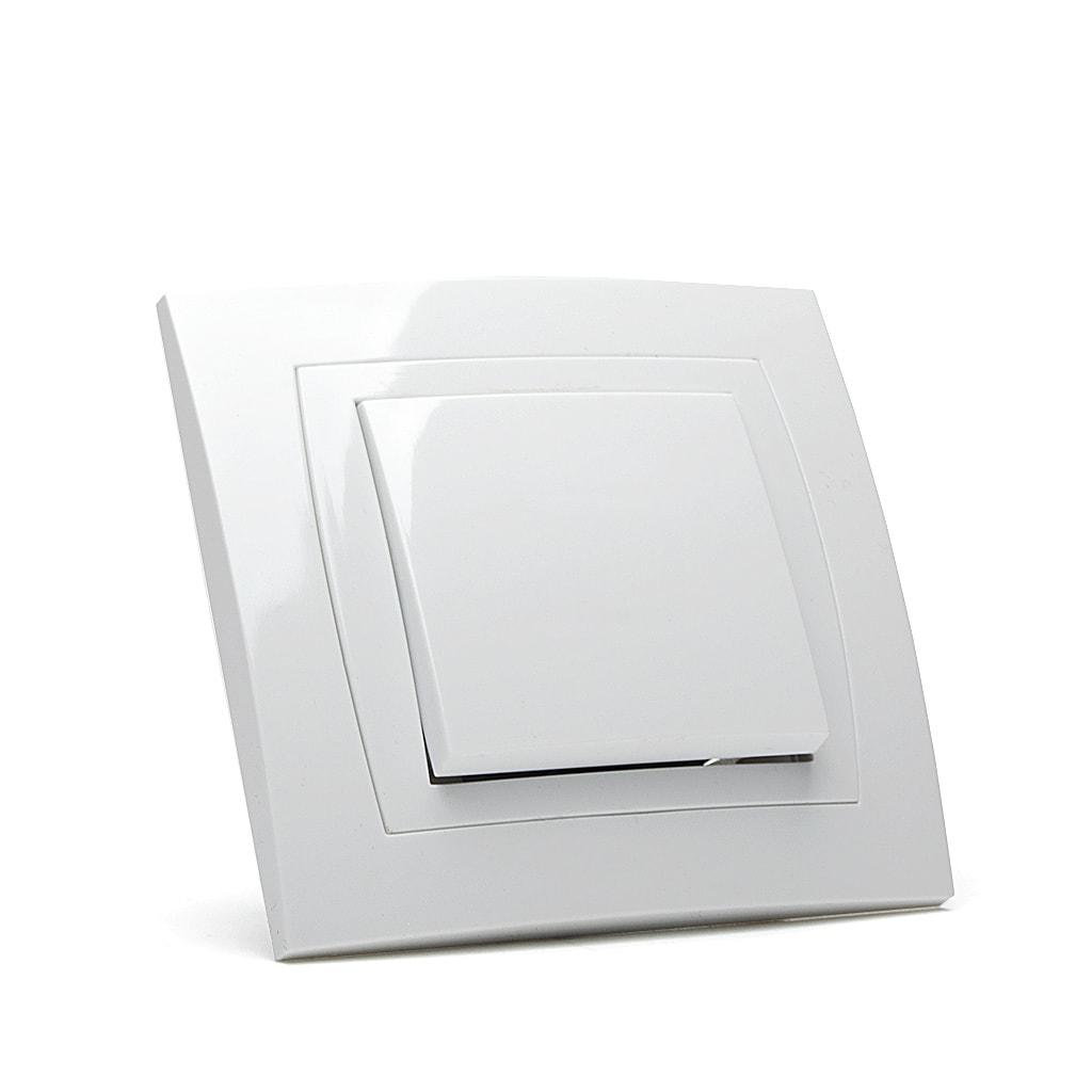 Ключ Еднополюсен Мираж НК, сх.1, 10A, 250V, Скрит монтаж, Бял