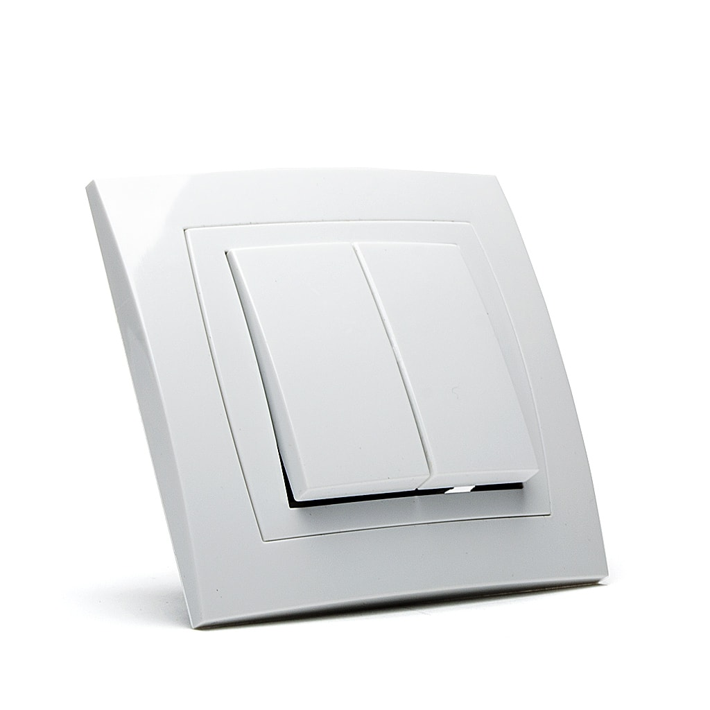 Ключ Сериен Мираж НК, сх.5, 10A, 250V, Скрит монтаж, Бял