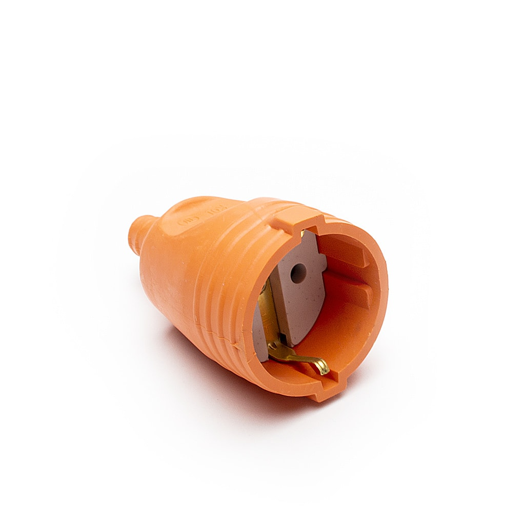 Куплунг гумиран, 16А, 230V, Оранжев