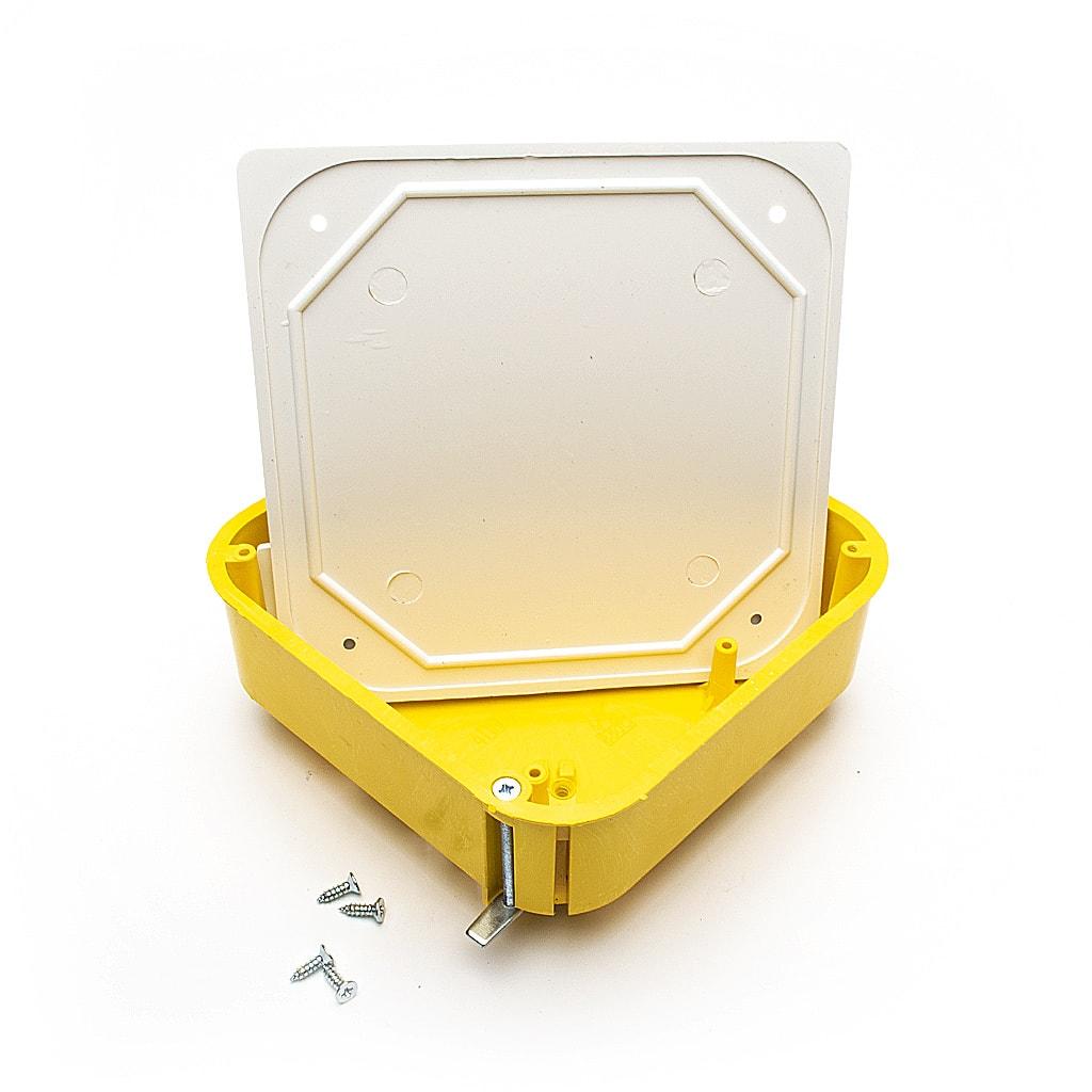 Разклонителна кутия за гипсокартон с капаче, 110x110мм