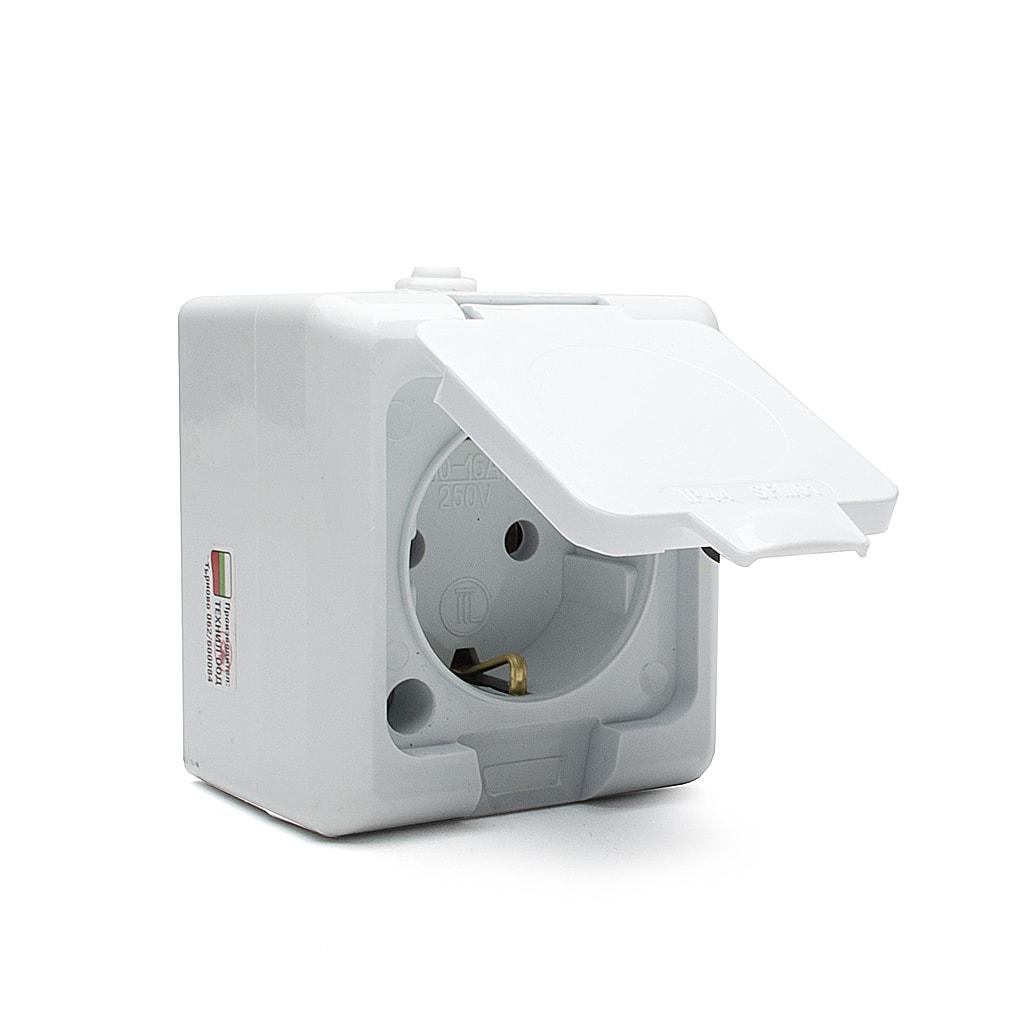 Влагозащитен IP44  контакт / 16А / 230V