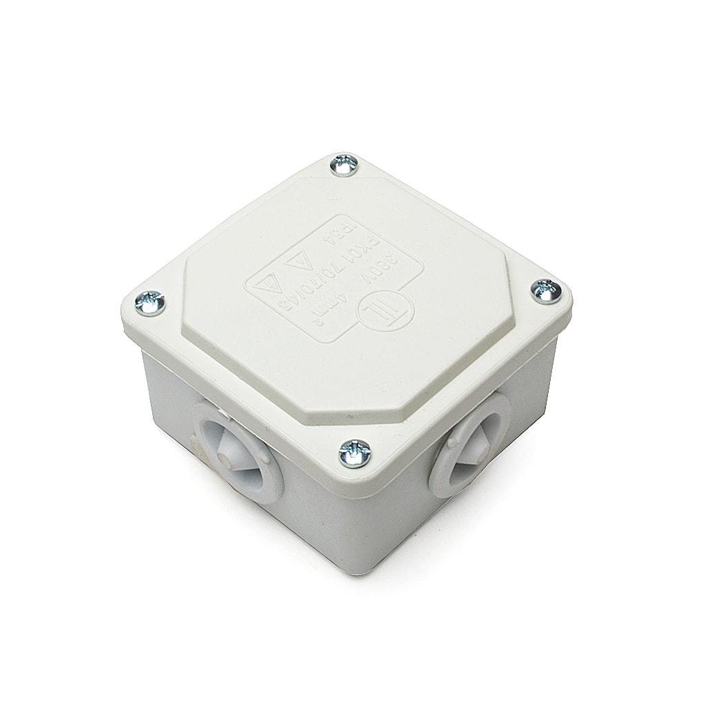 Разклонителна кутия за открит монтаж, IP54, 70x70x45мм, Бяла