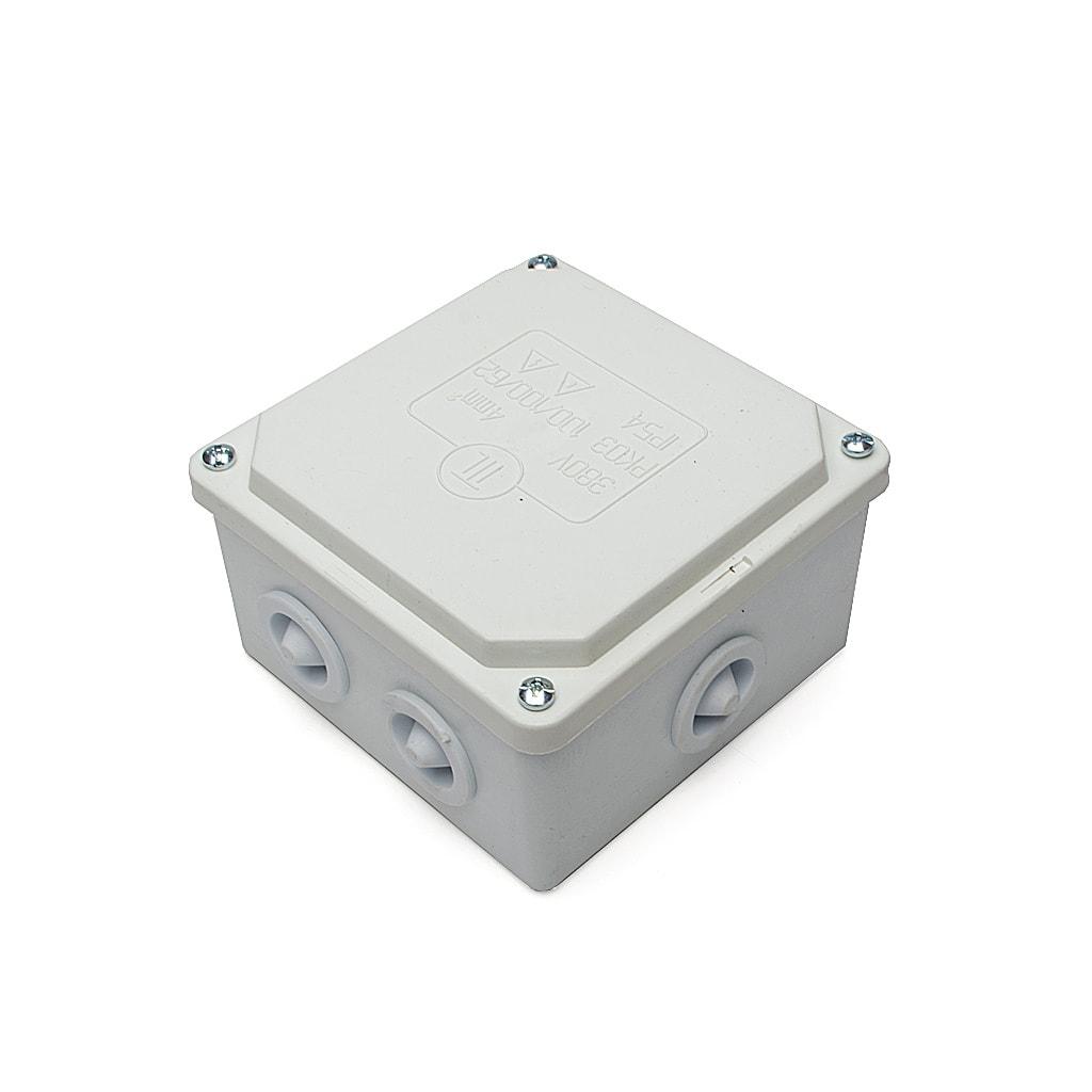 Разклонителна кутия за открит монтаж, IP54, 100x100x62 мм., Бяла