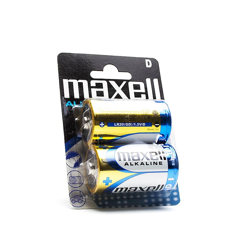 Алкална батерия LR20, 1.5V, MAXELL, 2бр.на блистер