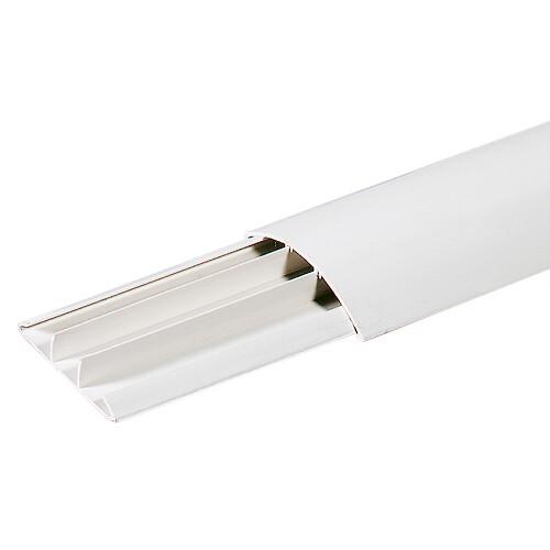 Кабелен канал, подов, 50x12, Бял, 2м