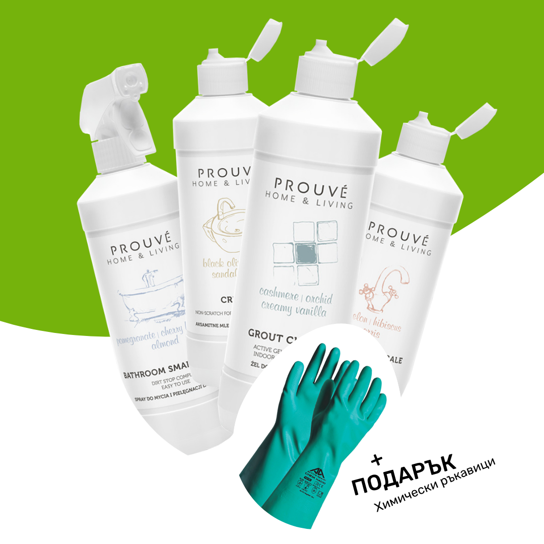 Комплект Почистващи Препарати за Баня Prouvé + Подарък